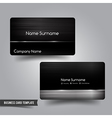 Business Card template set 55 Dark metal and steel vector image vector image