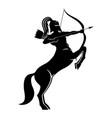 centaur archer in helmet vector image vector image