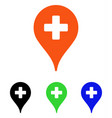 clinic map pointer flat icon vector image