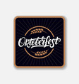 coaster for beerl with hand written lettering word vector image vector image