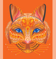 colorful cat vector image vector image