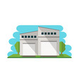 commercial warehouse building isolated icon vector image vector image