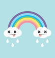 cute pastel rainbow cartoon vector image
