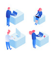 developers programming coding isometric vector image vector image
