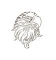 eagle head image vector image