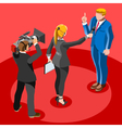 Election News Infographic Latest News Isometric vector image vector image