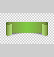 empty ribbon icon blank sticker label on isolated vector image