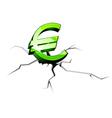 euro symbol crisis vector image
