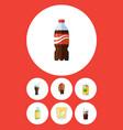 flat icon beverage set of beverage lemonade vector image vector image