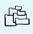 folder icon for your web site design app logo ui vector image vector image