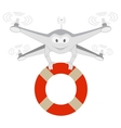 Funny Drone Lifeline Isolated vector image vector image