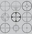gun crosshairs silhouettes vector image vector image