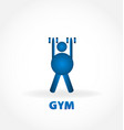 gym healthy and fit person vector image vector image