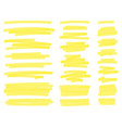 highlight marker lines yellow text highlighter vector image