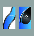 horizontal business card vector image vector image