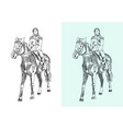 horseback rider vector image