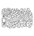 jewish holiday pesach vector image vector image