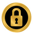 lock button on white vector image vector image