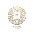 logo round forest vector image vector image