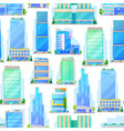 malls trade and business center buildings pattern vector image