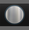 metal round plate with copy space blank template vector image vector image
