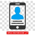 Mobile Account Eps Icon vector image