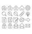 modern line style icons user interface set 1 vector image