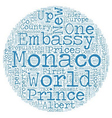 Monaco Gets Active And Opens New US Embassy text vector image vector image