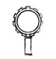monochrome blurred silhouette of magnifying glass vector image vector image
