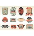 Original retro labels emblems collection vector image vector image