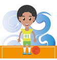 pretty woman athlete playing basketball vector image vector image