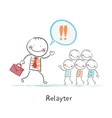 Relayter praise products to the people vector image