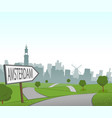 road to amsterdam vector image