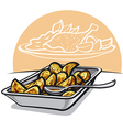 Roasted potatoes vector image vector image