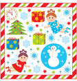 Scrapbook elements with with christmas and new-yea vector image vector image