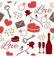 seamless pattern love theme vector image vector image