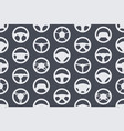 seamless pattern with car steering wheels vector image vector image