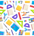 seamless pattern with stationery objects isolated vector image vector image