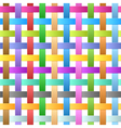seamless ribbons weave vector image vector image