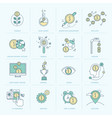 set flat line icons for finance vector image vector image