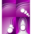 Set of purple backgrounds design frame line shadow vector image vector image