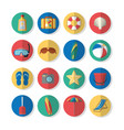 set summer icons vector image vector image