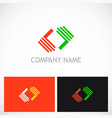 shape colored geometry logo vector image vector image