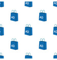 shopping bag advertising icon in cartoon style vector image vector image