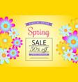 spring sale off discount vaucher brochure vector image vector image