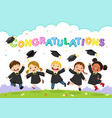 students celebrating graduation vector image vector image