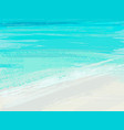 summer sea background with blue brush stroke vector image