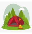 tent camping isolated icon vector image