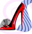 tie and heel vector image vector image