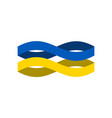 ukraine flag ribbon isolated ukrainian symbol vector image